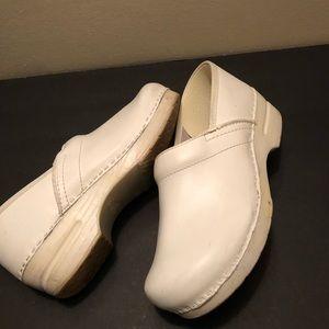 White Dansko Clogs Size 40